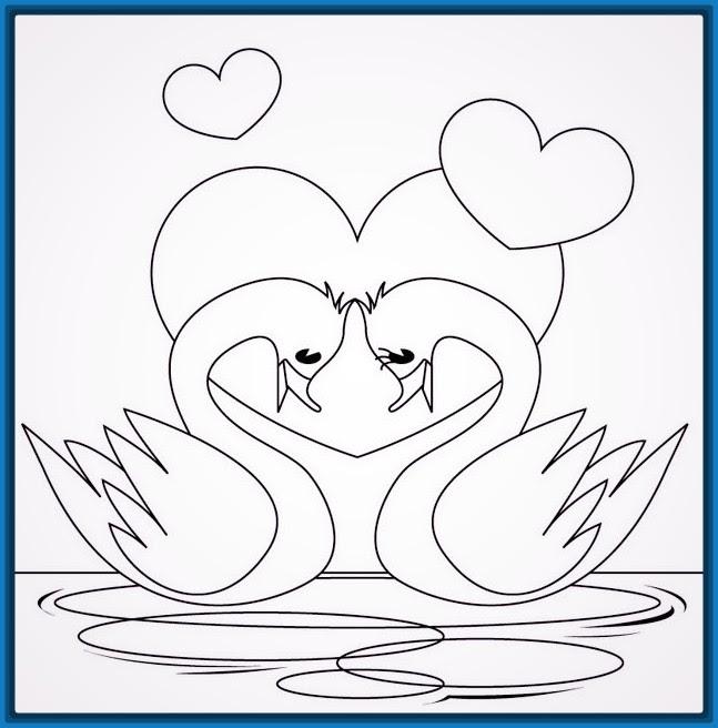 Dibujos Faciles De Amor Para Colorear Fotos De Amor Imagenes De Amor