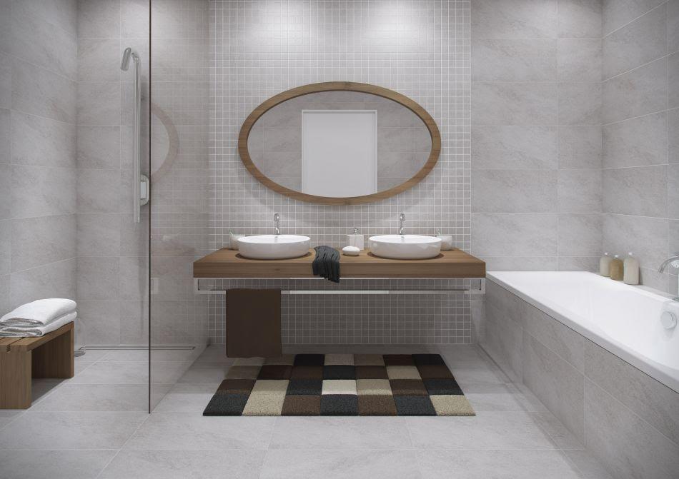 Szara łazienka - galeria - szara łazienka z drewnem ...
