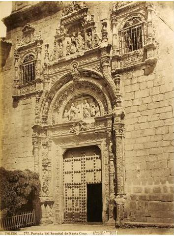 Museo de Santa Cruz en el siglo XIX.Fotografía de Jean Laurent