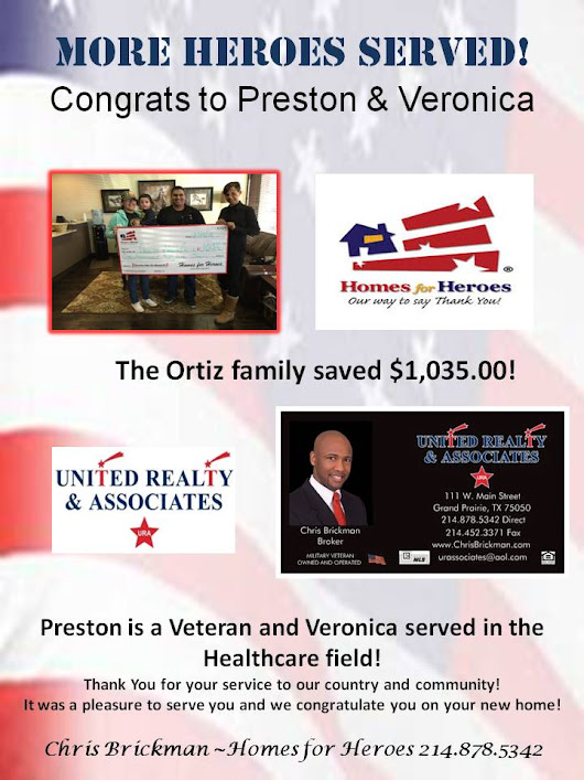 More Heroes Served! Congrats to Preston & Veronica | United Realty & Associates