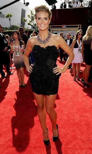 Heidi Klum at the at the 62nd Primetime Emmy Awards
