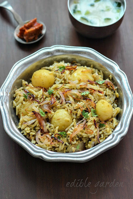 Baby Potato Biryani Recipe, Easy Baby Potato Biryani Step by Step - Edible Garden