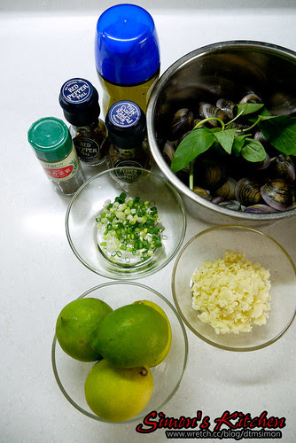 義式檸檬油醋涼拌赤嘴蛤02