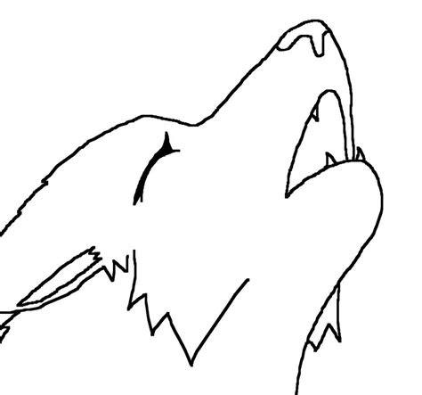 cartoon wolf howling   clip art
