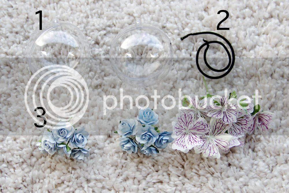 DIY - SEE THROUGH HAIR-BALLS with flowers