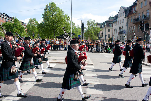 Pipes and drums of the first royal engineers