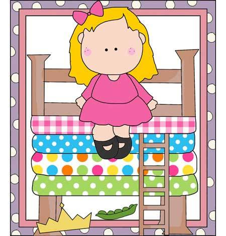 The Princess and the Pea Fairy Tale Pattern - Printables, Applique, Line Drawings, Digital Stamps