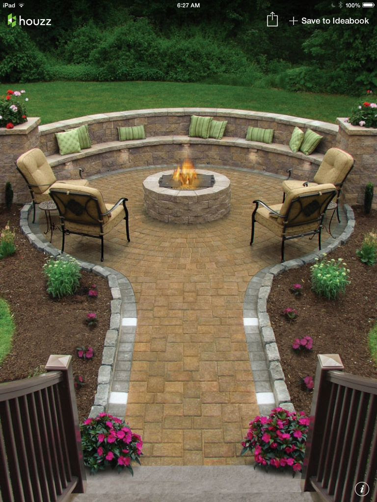 Landscaping ideas for backyard fire pit