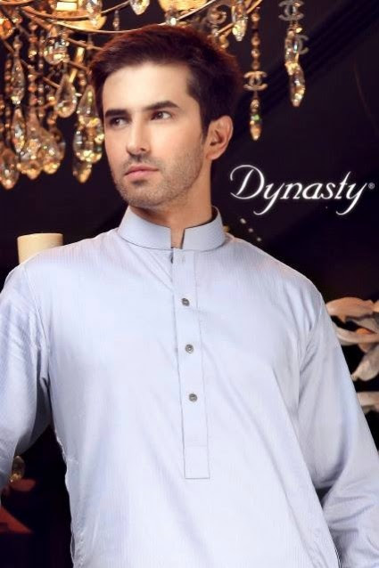 Mens-Wear-Cotton-Embroidered-Kurta-Pajama-By-Dynasty-Fabrics-New-Fall-Collection-2013-14-14