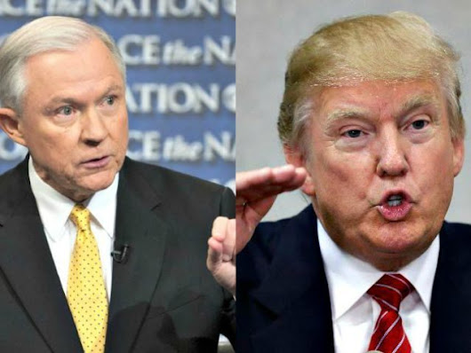 Donald Trump Consults with Jeff Sessions on Immigration