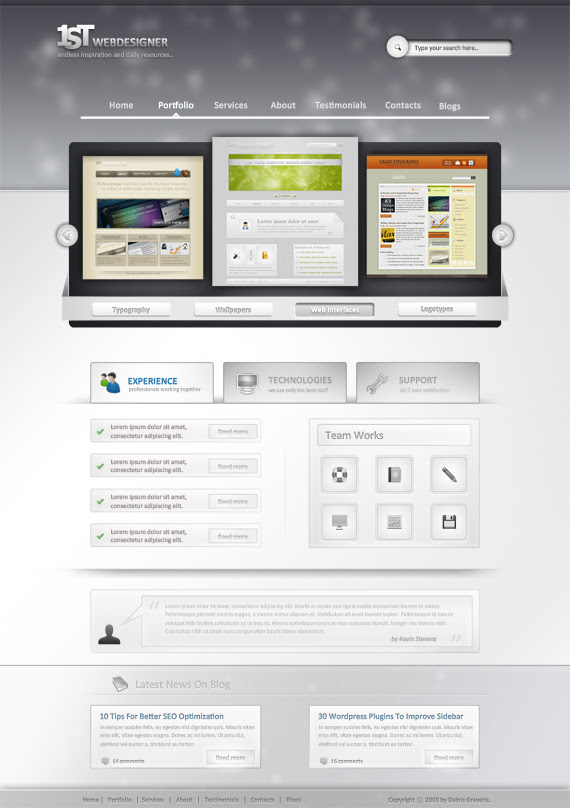 Photoshop Web Design Professional Layout Tutorial