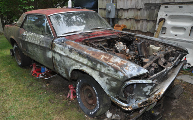 1968 Ford Mustang Coupe 289 3 Speed Manual Good For Parts For Sale Photos Technical Specifications Description