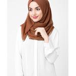 """Chiffon Hijab Scarf Shawl Headcover in Sierra Color, Medium 27""""x70"""" / Sierra"""