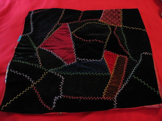 Old Velvet Crazy Quilt Pillow Cover or Pillowtop from joyland on ...
