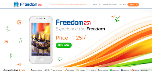 How to Book Freedom 251 Smartphone Online