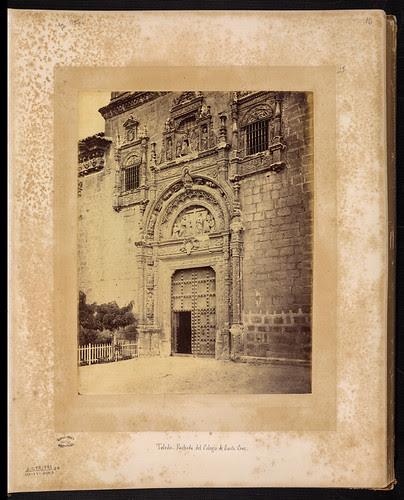 Museo de Santa Cruz de Toledo en el siglo XIX. Foto Jean Laurent. Biblioteca Nacional de Brasil
