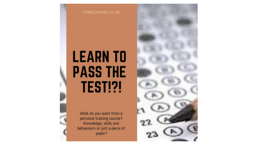 Learn to pass the test!?! - TomGodwin.co.uk