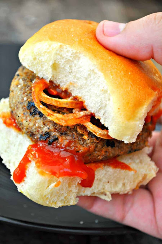 Vegan Mushroom Meatloaf Sliders with Crispy Shallots