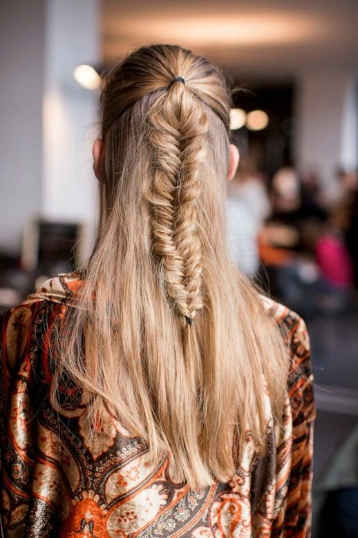 Le Fashion Blog -- 30 Inspiring Fishtail Braids -- Half Up Braid Etro Hair Style -- Via Glamour -- photo 15-Le-Fashion-Blog-30-Inspiring-Fishtail-Braids-Half-Up-Braid-Etro-Hair-Style-Via-Glamour.jpg