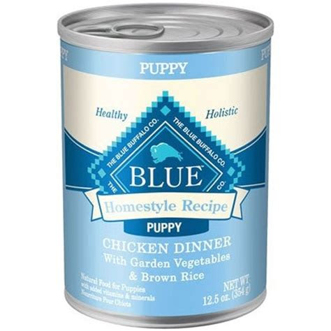 blue buffalo homestyle recipes chicken puppy canned dog