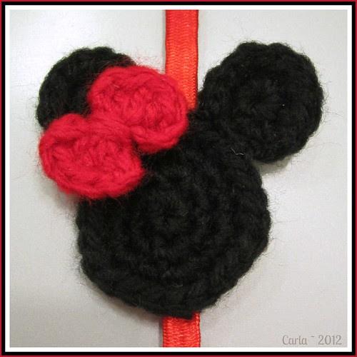 Minnie Mouse Head Applique