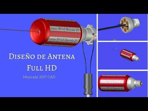 Diseño de Antena Full HD Mejorada 2017 CAD