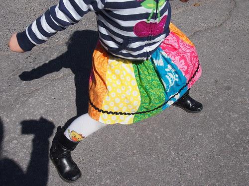Wednesday's Rainbow Skirt