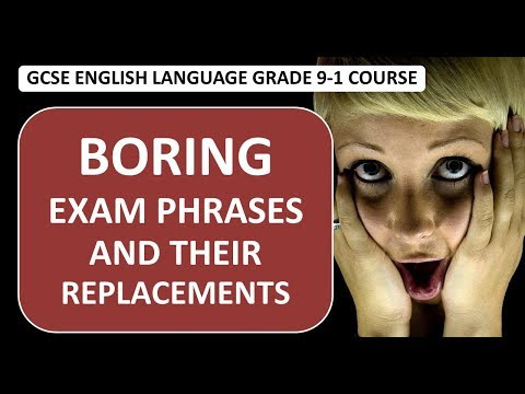 Boring Exam Phrases and Their Replacements