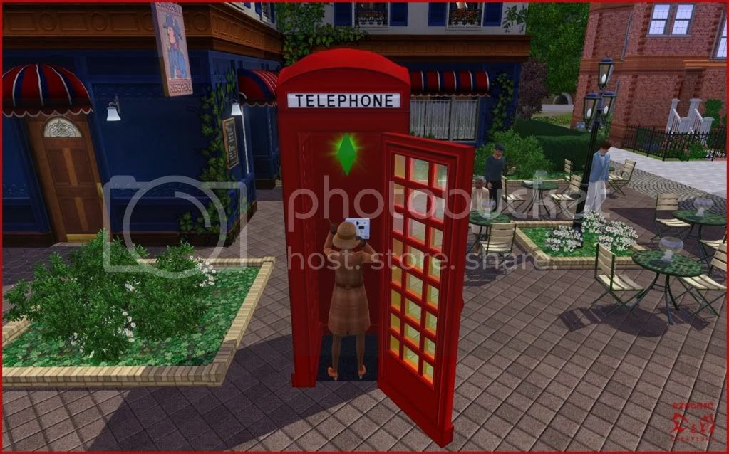 British Phone Booth - Demonic. Sims 3