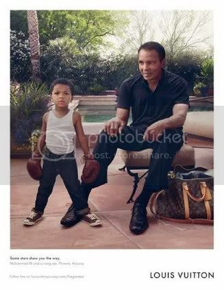 Muhammad Ali for Louis Vuitton Core Values Campaign