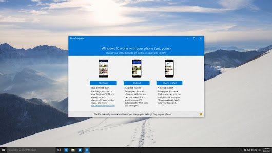 Windows 10 will play nice with iOS, Android thanks to Phone Companion app