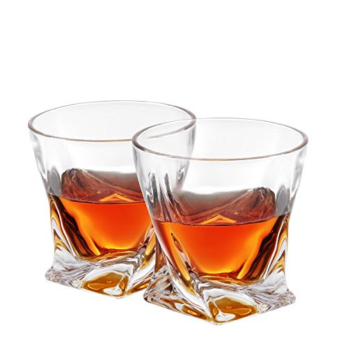 Review for Twist Whiskey Glasses, Old Fashioned Glasses By Mivim 300mL/10.25oz- Set of 2. L... - Nichole Shaw - Blog Booster
