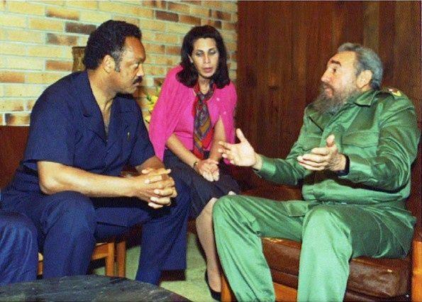 Fidel Castro y Jesse Jackson
