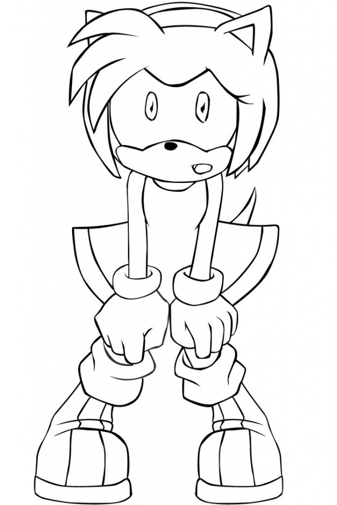 Amy Sonic Coloring Pages at GetDrawings   Free download