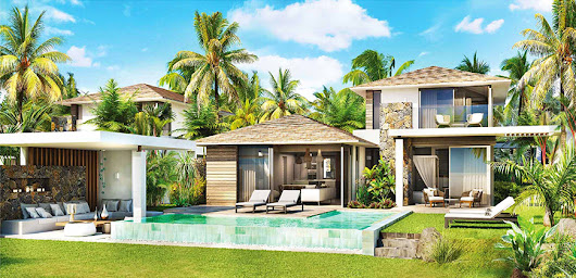 Azuri IRS beachfront villas for sale in Mauritius