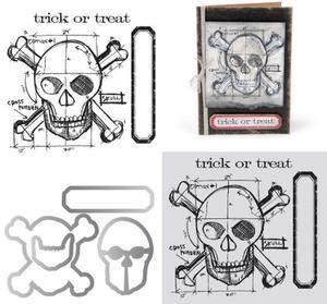 Tim Holtz Blueprint Framelit with Stamps