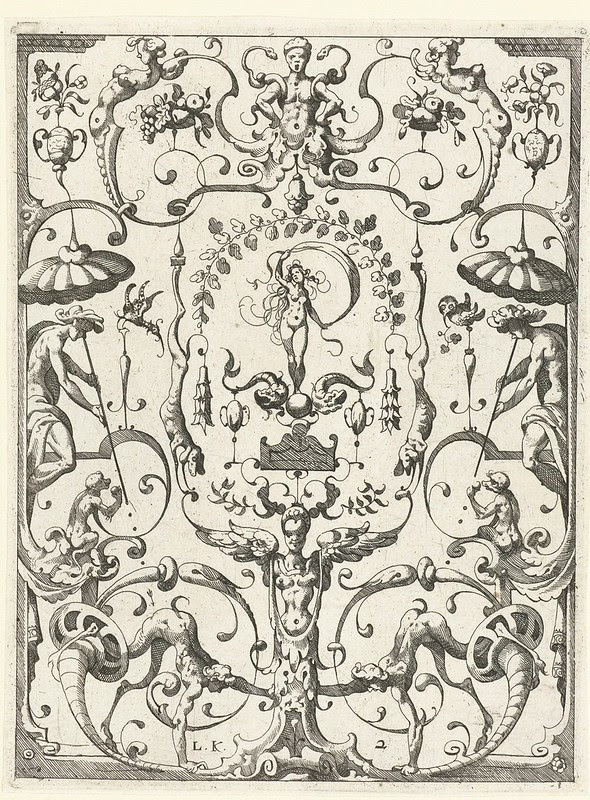 Venus + 2 dolphins by Lucas Kilian (1607)