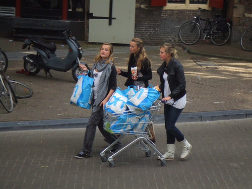 Dutch Shopping Cart Girls