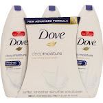 Dove Body Wash, Nourishing, Deep Moisture - three 24 fl oz body washes (709 ml) [72 fl oz (2.25 qts) 2.12 l]