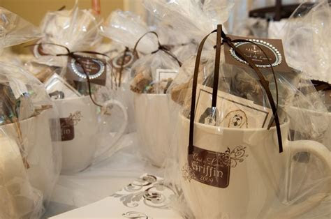 coffee mugs as favors   Who Needs a Wedding Planner