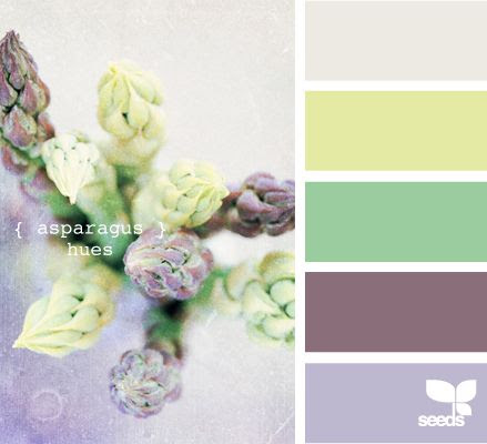 Asparagus Hues - http://design-seeds.com/index.php/home/entry/asparagus-hues