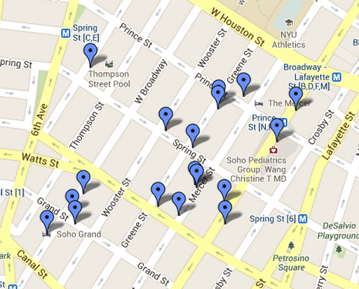 Shops In Soho New York Map | Campus Map