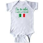Inktastic So Cute Italian Infant Creeper, Infant Girl's