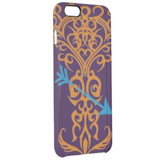 Tribal tree symbol with arrow orange uncommon clearly™ deflector iPhone 6 plus case