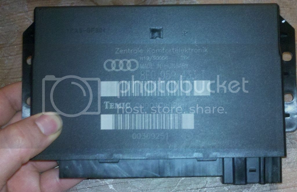 Audi A3 Comfort Control Module