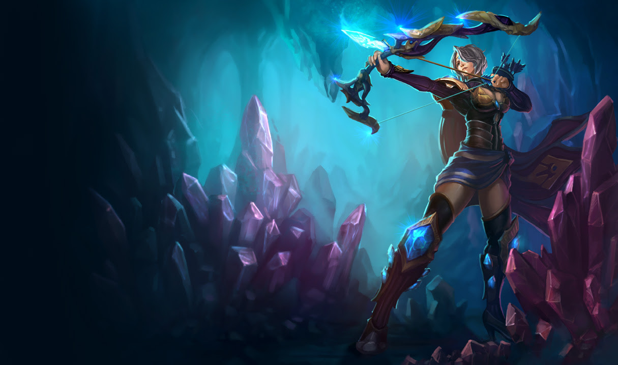 Amethyst Ashe Skin League Of Legends Wallpapers
