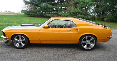 ford mustang fastback  cobra jet grabber orange