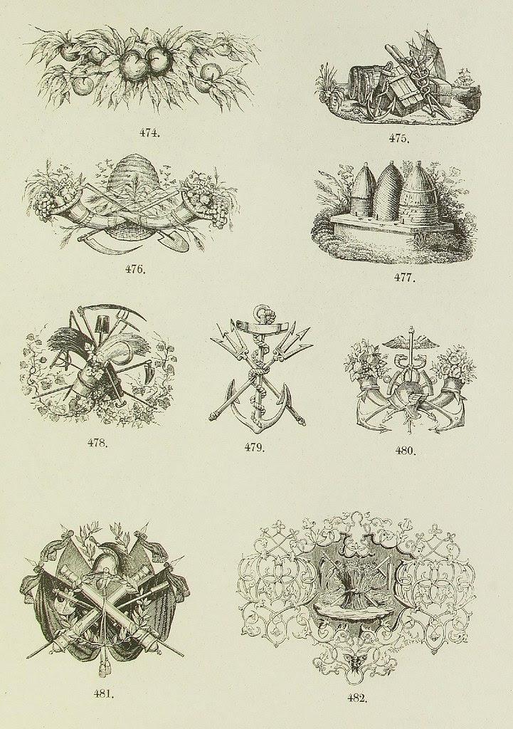 typographic ornament plate