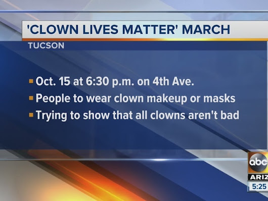 'Clown Lives Matter' march planned for Oct. 15