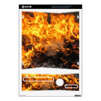 Burning Brush Xbox 360 S Decal